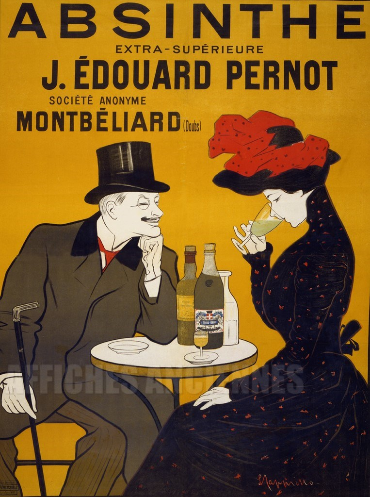 affiche absinthe edouard pernot montbeliard. Black Bedroom Furniture Sets. Home Design Ideas
