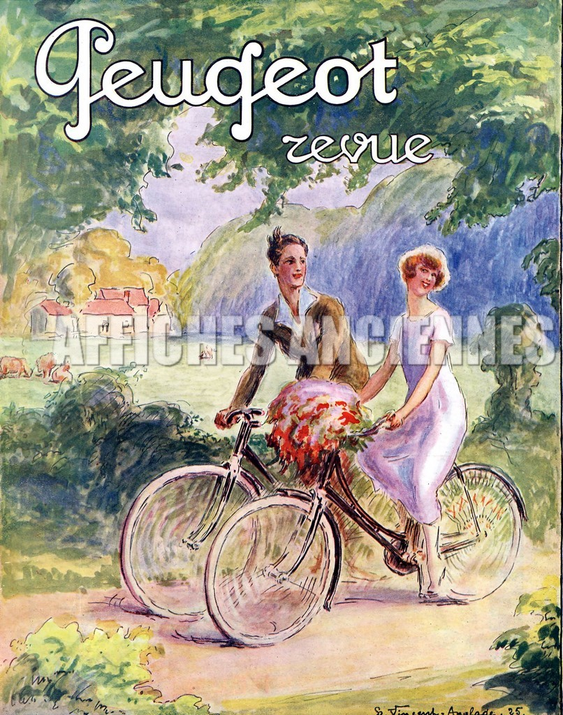 reproduction affiche ancienne velo bicyclette peugeot. Black Bedroom Furniture Sets. Home Design Ideas