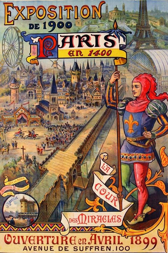 Paris Exposition De 1900 Vintage Poster Bank Th 232 Me