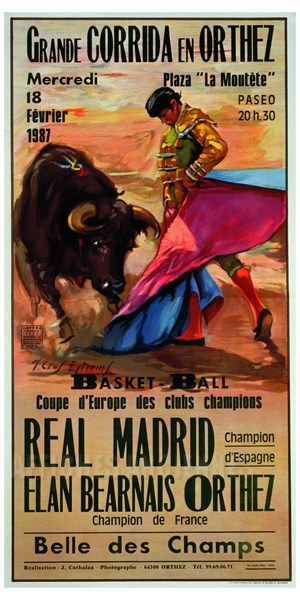 Grande corrida en Orthez Réal Madrid- VINTAGE POSTER BANK ...