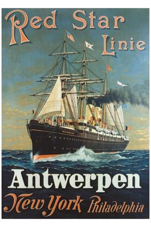Affiche Red Star Linie Antwerpen E Vintage Poster Bank