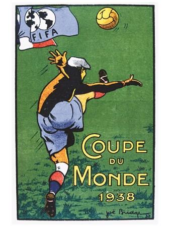 Football Coupe du Monde - VINTAGE POSTER BANK - thème Sports - reproduction  numérique d'affiche ancienne