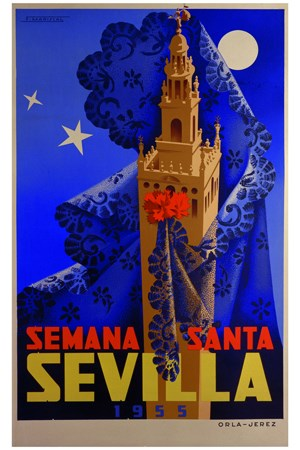 Semana Santa Sevilla Espagne - VINTAGE POSTER BANK - thème ...