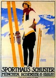 REPRODUCTION AFFICHE ANCIENNE SKI ALLEMAGNE
