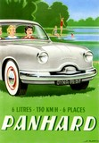 reproduction affiche voiture panhard dyna