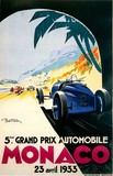 reproduction affiche ancienne grand prix monaco