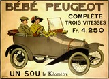 reproduction affiche ancienne peugeot