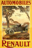 reproduction affiche ancienne automobiles renault