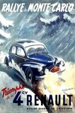 reproduction affiche ancienne rallye monte carlo