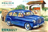 reproduction affiche ancienne automobile renault