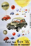 reproduction affiche ancienne 4 cv renault